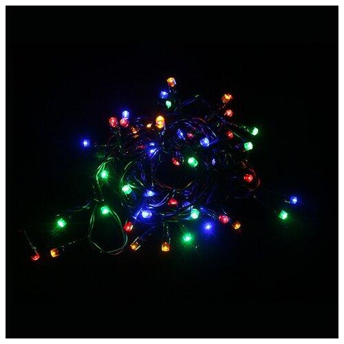 Электрическая LED-гирлянда, 50 лампочек, многоцветная