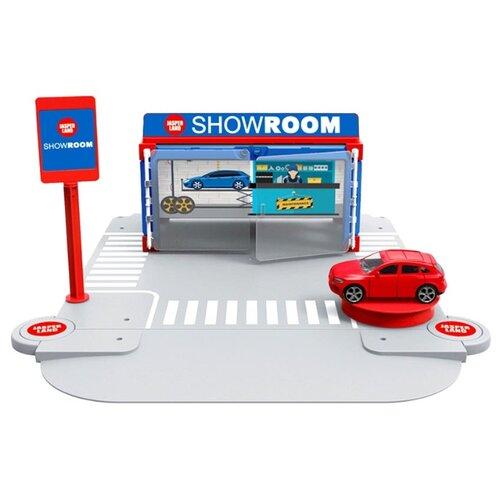 Jasperland Автомобильный магазин 5279-1 голубой/красный/серый