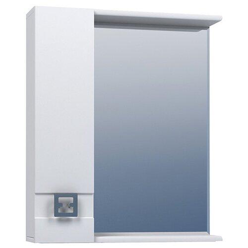 Шкаф для ванной Mixline Квадро-55/65/75 левый, (ШхГхВ): 75х15х70 см, белый