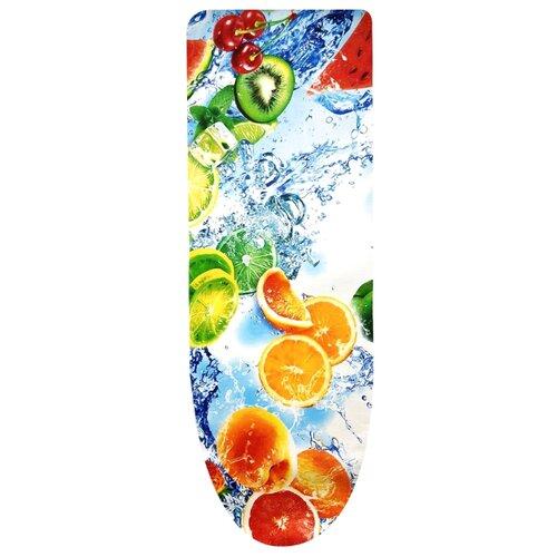 Чехол для гладильной доски ГЕЛЕОС Хлопок 100% 125х47 см фрукты