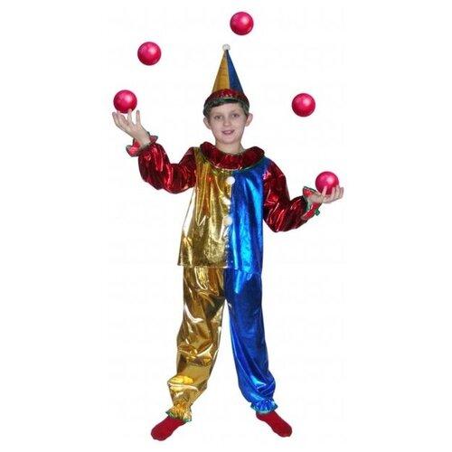 Костюм SNOWMEN Магический клоун Е6339, красный/синий, размер 11-14 лет костюм snowmen человек огонь е94758 красный черный размер 4 6 лет