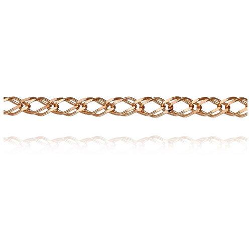 АДАМАС Цепь из золота плетения Ромб свободный двойной ЦРС235А2-А51, 55 см, 3.63 г