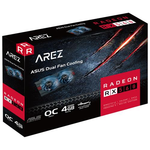 Купить Видеокарта ASUS AREZ Radeon RX 560 1149MHz PCI-E 3.0 4096MB 6000MHz 128 bit DVI HDMI DisplayPort HDCP EVO OC Retail