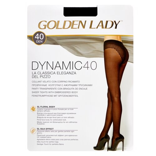Колготки Golden Lady Dynamic 40 den, размер 3-M, nero (черный) колготки golden lady dynamic 40 den размер 4 l nero черный