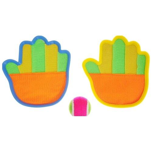Купить Ловушка с мячом ABtoys (S-00028) оранжевый/желтый/зеленый, Спортивные игры и игрушки