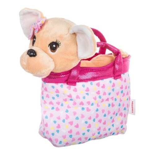 Мягкая игрушка BONDIBON Милота Собачка чихуахуа в розовой сумке 21 см