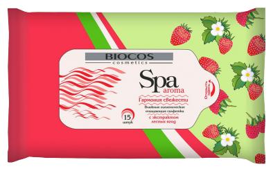 Влажные салфетки BioCos SPA Aroma универсальные С экстрактом лесных ягод