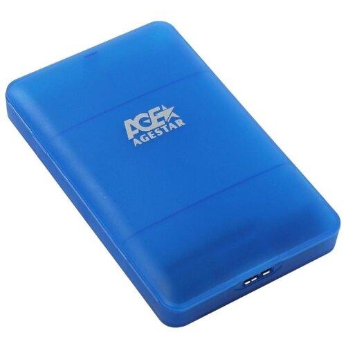 Корпус для HDD/SSD AGESTAR 3UBCP3 синий