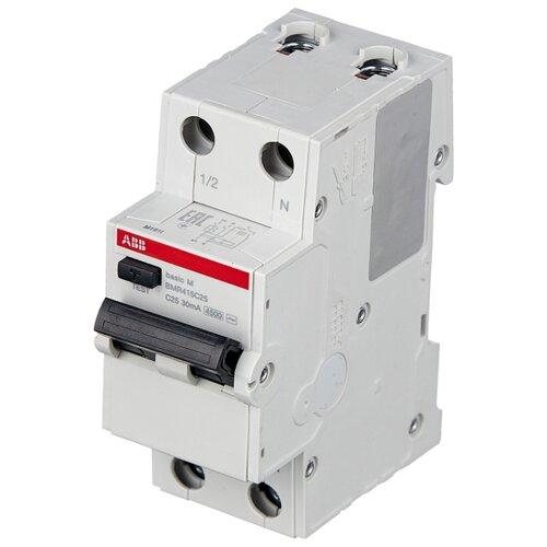 Дифференциальный автомат ABB BMR415 2П 30 мА C 20 А автомат abb bms412c63