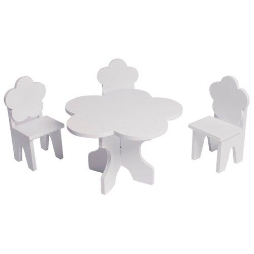 Купить PAREMO Набор мебели для кукол Цветок (PFD120-45/PFD120-46/PFD120-44/PFD120-42/PFD120-43) белый, Мебель для кукол