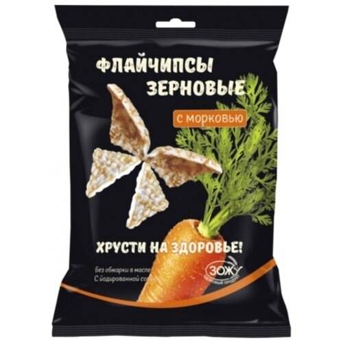 Зерновые снэки Флайчипсы зерновые с морковью 40 г