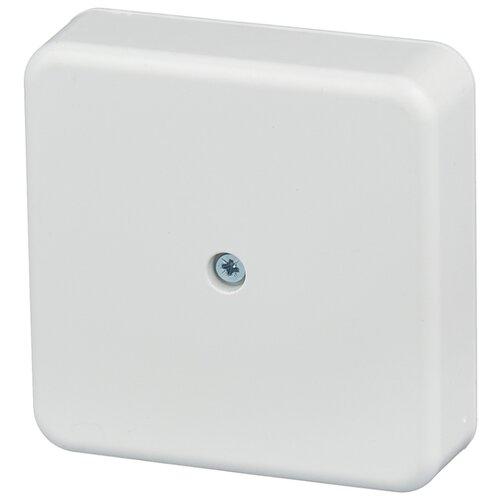 Фото - Распределительная коробка IEK КМ41212 наружный монтаж 75x75 мм белый распределительная коробка рувинил оп 9мод с дверцей цвет белый 68029