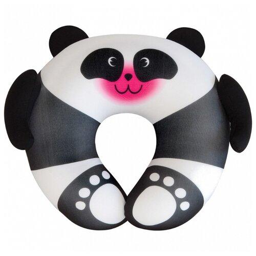 Подушка для шеи Travel Blue Fun Pillow - Panda, черный/белый подушка для путешествий travel blue tranquility pillow с эффектом памяти цвет фиолетовый 28 х 27 х 12 см