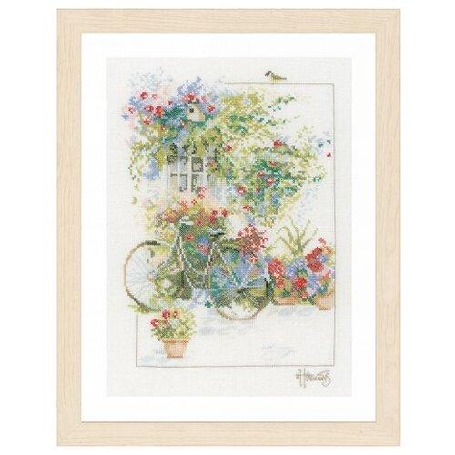 Купить Lanarte Набор для вышивания Flowers & bicycle 29 х 39 см (PN-0168447), Наборы для вышивания