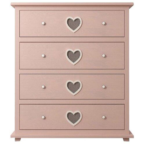 цена на Комод Этажерка Adelina 4 ящика , размер: 110х44 см , цвет: розовый