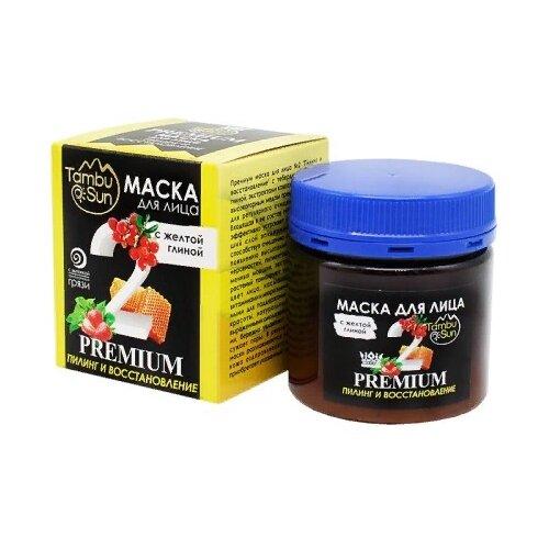 Tambusun Маска для лица Premium №2 Пилинг и восстановление с желтой глиной 150 мл