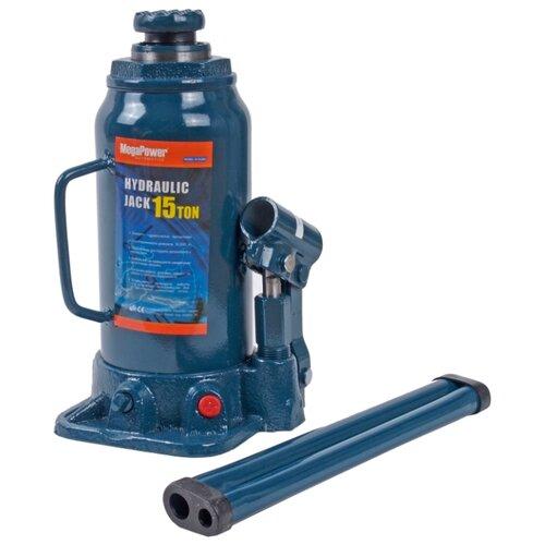 Домкрат бутылочный гидравлический MegaPower M-91504 (15 т) синий домкрат бутылочный гидравлический megapower m 90504s 5 т синий