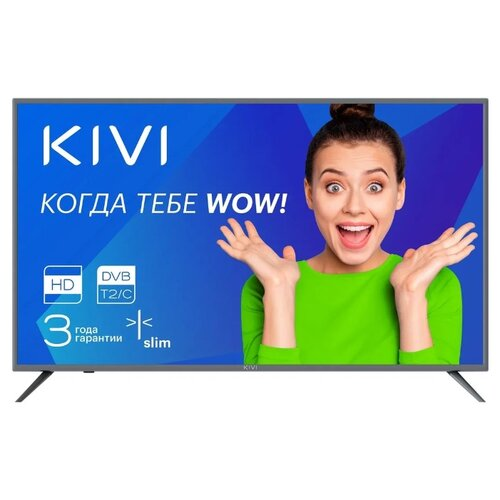 Фото - Телевизор KIVI 24H500GR 24 (2019) базальт искусственные цветы lefard пуансетия 241 1831 38 см
