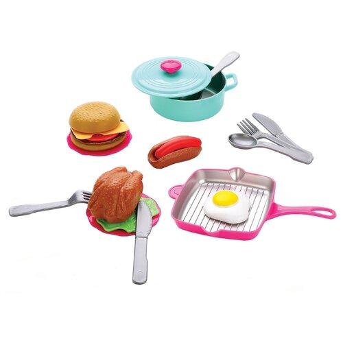 цена Набор продуктов с посудой Mary Poppins Учимся готовить 453157 голубой/красный онлайн в 2017 году