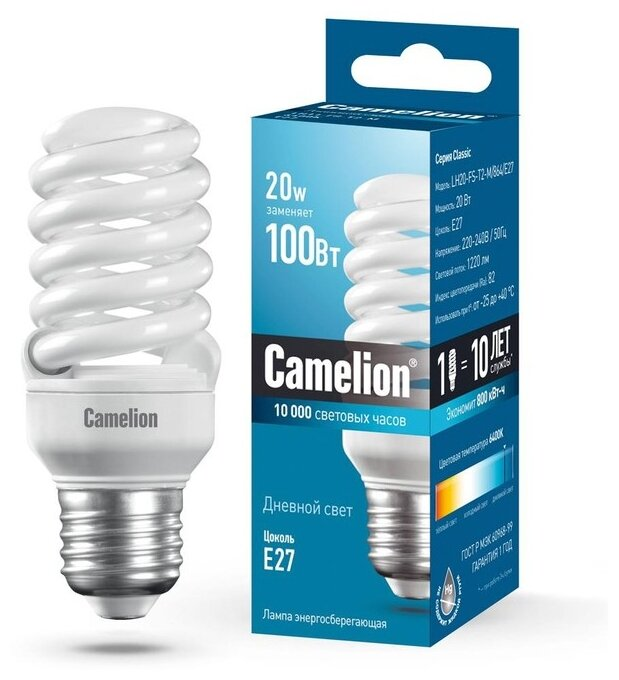 Лампа Camelion LH20-FS-T2-M/864/E27 MINI BL1