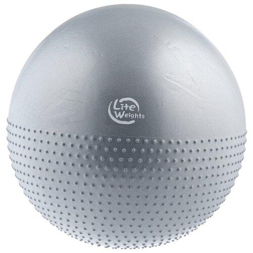 Фитбол Lite Weights BB010-26, 65 см серебристо-серый