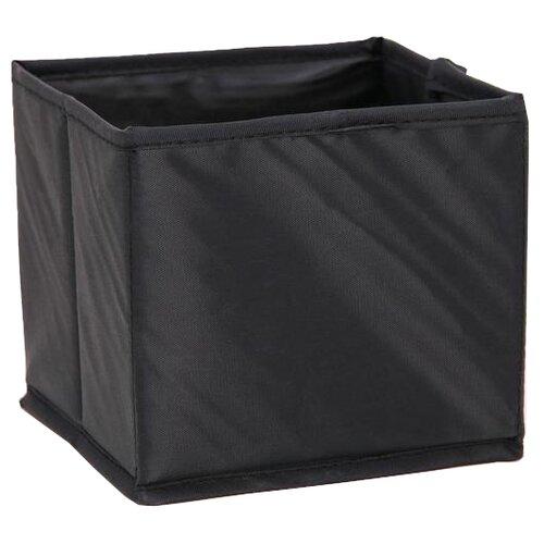 Доляна Кофр для хранения 14 х 14 х 13 см черный