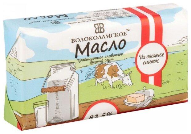 Волоколамское Масло сливочное традиционное высший сорт 82.5%, 200 г