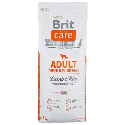 Сухой корм для собак Brit Care ягненок с рисом 12 кг (для средних пород) корм для собак brit care medium breed для средних пород ягненок с рисом сух 3кг