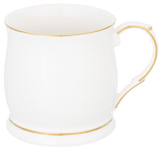 Купить Elan gallery Кружка Белая с золотом 350 мл белый по низкой цене с доставкой из Яндекс.Маркета (бывший Беру)
