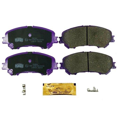 Дисковые тормозные колодки передние NIBK PN2804 для Nissan Qashqai, Nissan X-Trail (4 шт.) дисковые тормозные колодки передние nibk pn3809 для nissan nv200 mitsubishi l200 mitsubishi pajero sport 4 шт