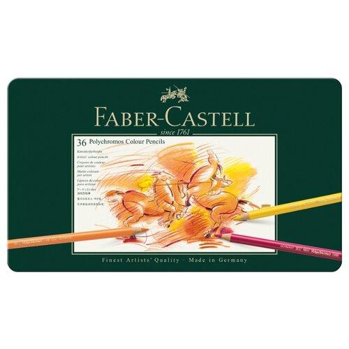 Купить Faber-Castell Карандаши цветные Polychromos, 36 цветов (110036), Цветные карандаши