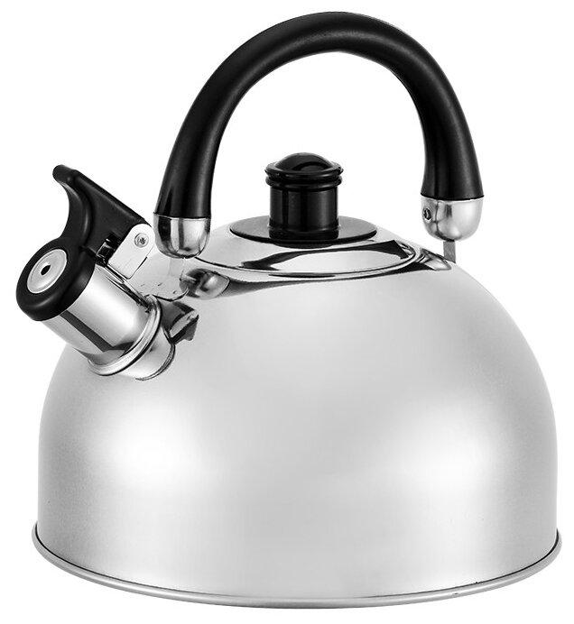 Чайник мет. со свистком BH - 9921/сиреневый