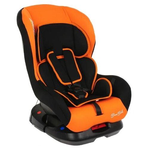 Фото - Автокресло группа 0/1 (до 18 кг) BamBola Bambino, чёрный/оранжевый автокресло группа 0 1 до 18 кг bambola bambino темно синий бежевый
