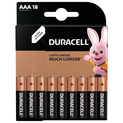 Фото - Батарейка Duracell Basic AAA 18 шт блистер батарейка duracell ultra power aaa lr03 12 шт блистер