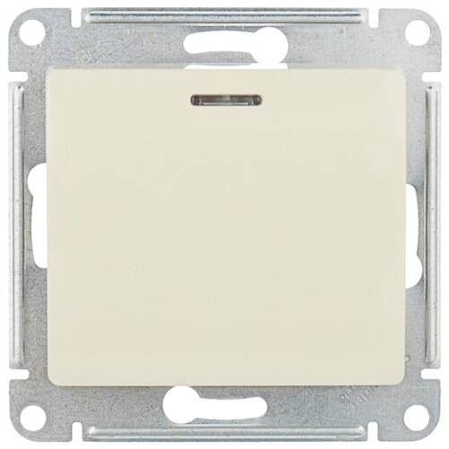 Выключатель 1-полюсный Schneider Electric GSL000213 GLOSSA, 10 А, бежевый выключатель 1 полюсный schneider electric atn000211 atlasdesign 10 а бежевый