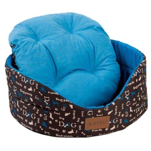 Лежак для собак и кошек Katsu Yohanka Shine Dogs 2 46х32х18 см синий