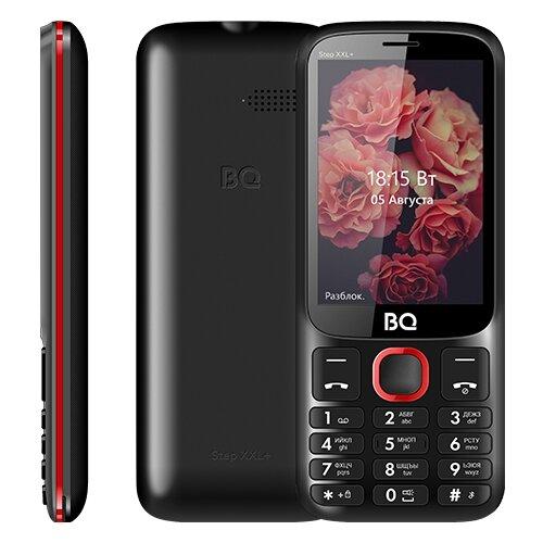Телефон BQ 3590 Step XXL+, черный / красный мобильный телефон bq step xxl 3590 64mb черный синий 2sim 3 5 tft 320x480