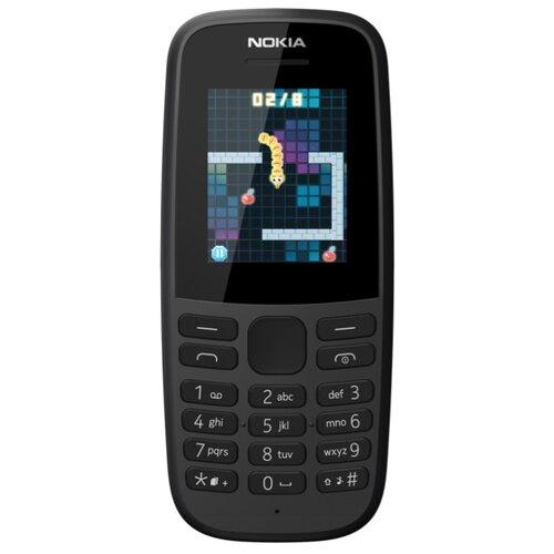 Телефон Nokia 105 SS (2019) черный телефон