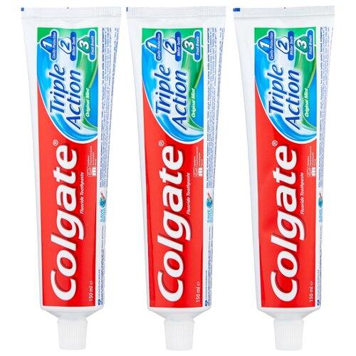 Зубная паста Colgate Тройное действие Натуральная мята комплексная, 150 мл, 3 шт. зубная паста colgate нежная мята 3 5 лет 60 мл