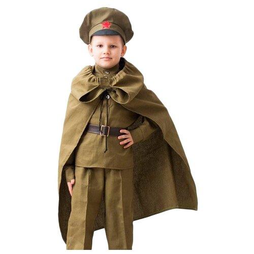 Купить Костюм Бока Плащ-палатка, хаки, размер 122-134, Карнавальные костюмы