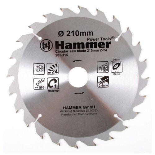 Пильный диск Hammer Flex 205-115 CSB WD 210х30 мм пильный диск hammer flex 205 106 csb wd 165х30 мм