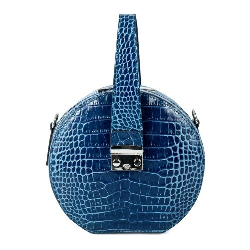 Сумка таблетка Afina, натуральная кожа, синий сумка afina afina af004bwssy21