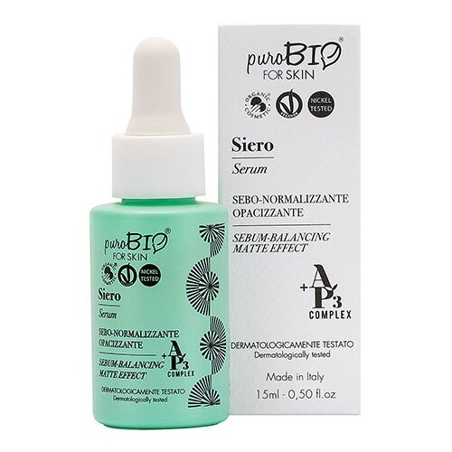 Купить PuroBIO forSKIN Sebum-Balancing Matte Effect Сыворотка для жирной кожи лица, 15 мл