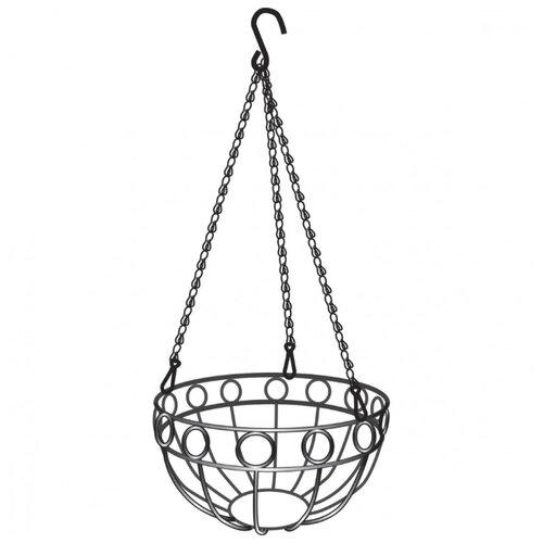 Фото - Кашпо PALISAD подвесное, 26 см x 53.5 см, 69015 серебристый подвесное кашпо с орнаментом 30 см с кокосовой корзиной palisad