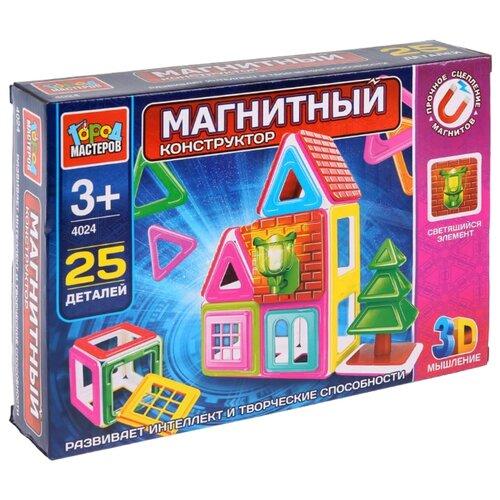 Купить Магнитный конструктор ГОРОД МАСТЕРОВ Магнитный 4032 Домик, Конструкторы