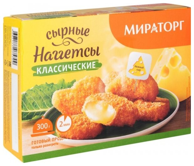 Мираторг Наггетсы сырные классические 300 г