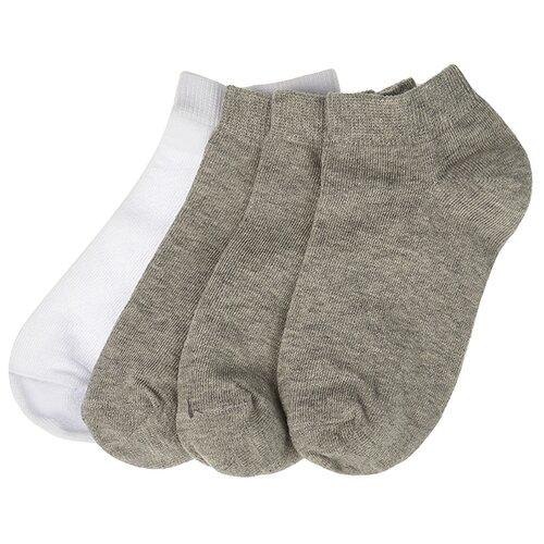 Купить Носки Oldos комплект из 4 пар, размер 23-25, серый/белый