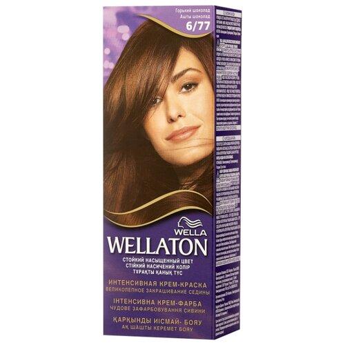 Wellaton стойкая крем-краска для волос, 6/77 горький шоколад аюрведическая краска для волос горький шоколад 100 мл aasha краски для волос