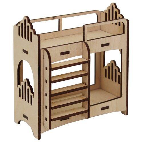 Купить Astra & Craft Деревянная заготовка для декорирования Двухярусная кровать L-657 береза, Декоративные элементы и материалы