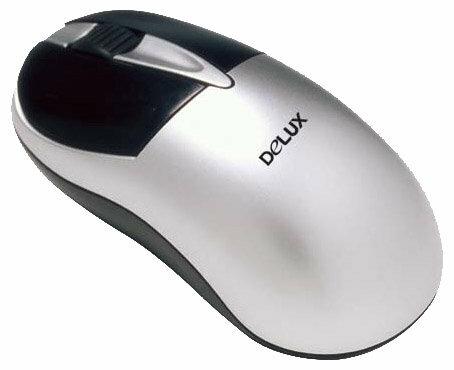 Мышь Delux DLM-346BP Silver PS/2